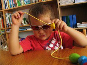 Frühförderung für blinde Kinder